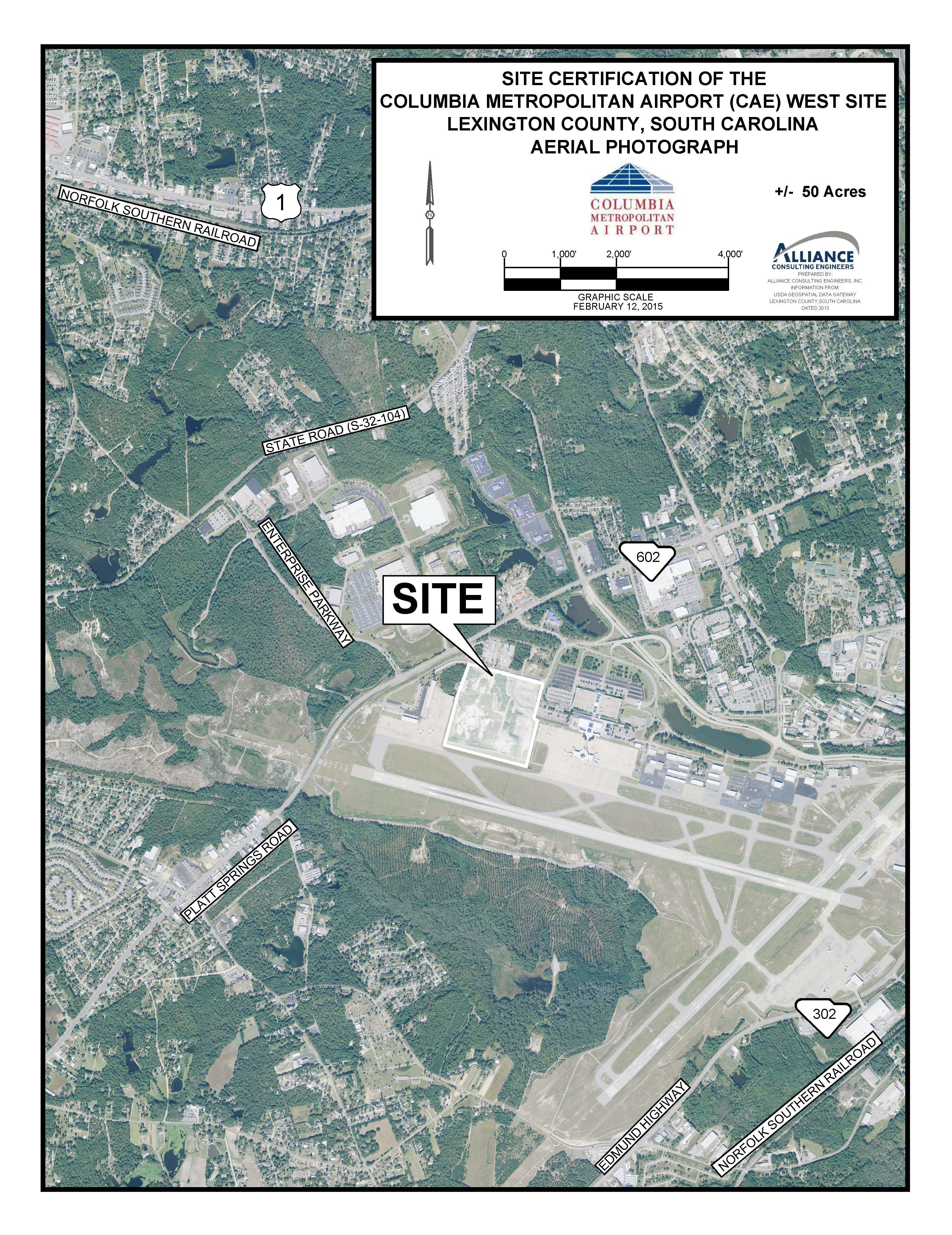 Columbia Metropolitan Airport CAE West Site Locate SC